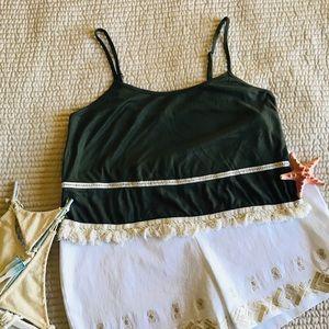 Charlotte Russe Dark Green Top Size